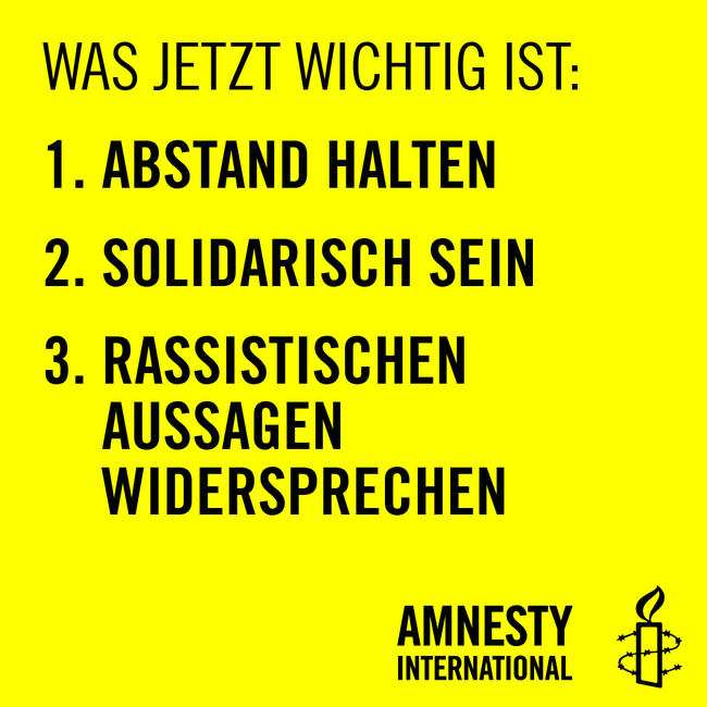 Plakat gegen Rassismus 2 (c) Amnesty International